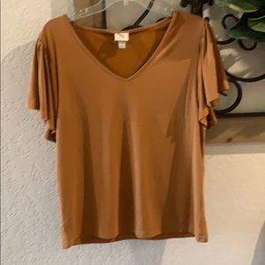 Mustard brown blouse